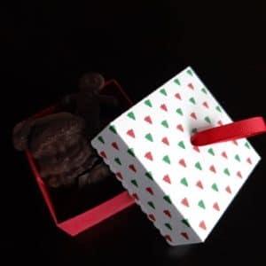 Boite de Chocolats Palets + figurines de Noel 80g